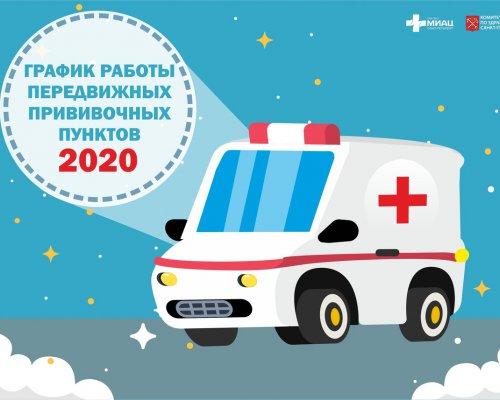 График работы передвижных прививочных пунктов 2020